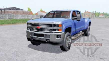 Chevrolet Silverado 3500 HD Tripulación Caɓ para Farming Simulator 2017