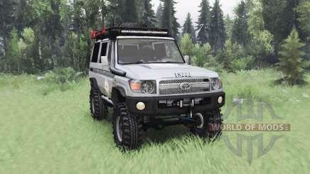Toyota Land Cruiser 70 (J76) 2007 ICRC para Spin Tires