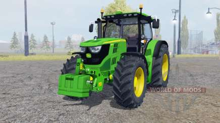 John Deere 6150R with weight para Farming Simulator 2013