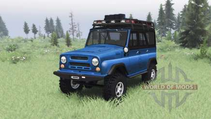 UAZ 469 v1 azul.2 para Spin Tires