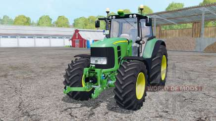 John Deere 7530 Premium double wheels para Farming Simulator 2015