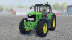 John Deere 7530 Premium vivid malachite para Farming Simulator 2013