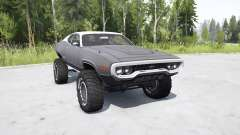Plymouth GTX 1971 (GR2-RS23) lifted para MudRunner