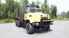 KrAZ 6322 suave color amarillo para MudRunner