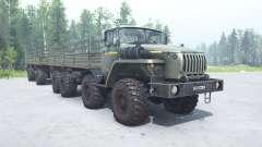 Ural 6614 gris-verde en color para MudRunner