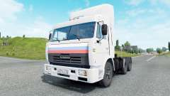 KamAZ-54115 color blanco para Euro Truck Simulator 2