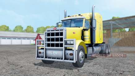 Peterbilt 378 pure yellow para Farming Simulator 2015