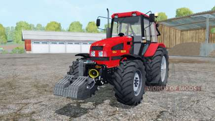 Belarús 1221.4 color rojo brillante para Farming Simulator 2015
