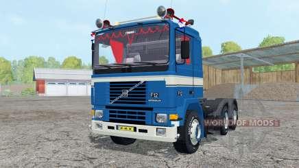 Volvo F12 dark blue para Farming Simulator 2015