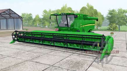 John Deere S670 vivid malachite para Farming Simulator 2017