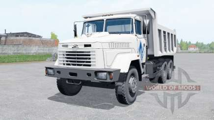 KrAZ-65055 color blanco para Farming Simulator 2017