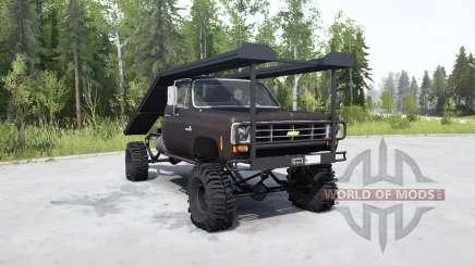 Chevrolet K20 1975 ramp truck para MudRunner