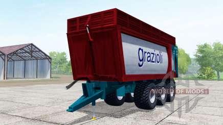 Grazioli Domex 200-6 dark red para Farming Simulator 2017