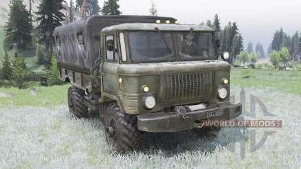 GAZ-66 verde grisáceo para Spin Tires