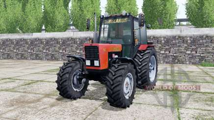 MTZ-82.1 Belarús, de color rojo brillante para Farming Simulator 2017