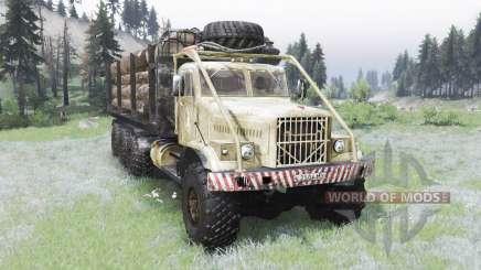 El KrAZ-255B 8x8 para Spin Tires