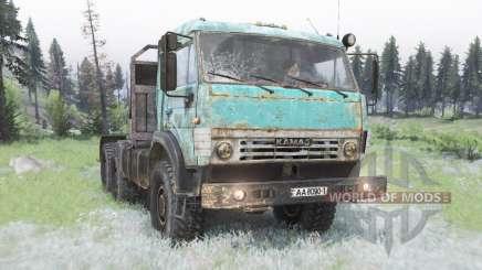 KamAZ-53504 en celadon para Spin Tires