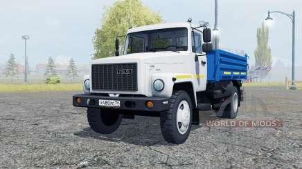 GAZ SAZ 35071 color blanco para Farming Simulator 2013