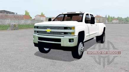 Chevrolet Silverado 3500 Crew Cab (GMTK2H) para Farming Simulator 2017