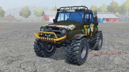 UAZ Hunter (315195-130) Monstruo para Farming Simulator 2013