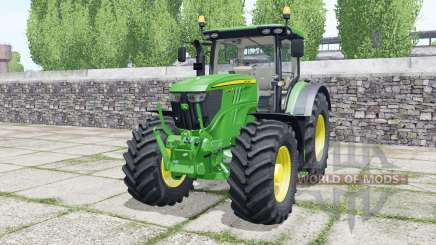 John Deere 6215R very light malachite green para Farming Simulator 2017