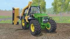 John Deere 7810 with municipal mower para Farming Simulator 2015
