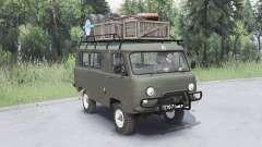UAZ-452 de color gris oscuro-color verde para Spin Tires