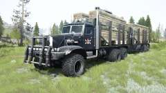 KrAZ-255Б1 personalizado para MudRunner