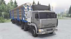 KamAZ-6460 6x4 para Spin Tires