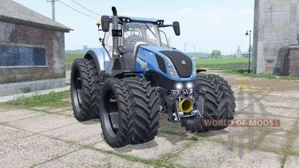 New Holland T7.315 narrow dual wheels para Farming Simulator 2017