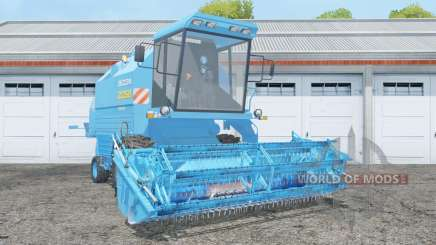 Bizon Rekord Z058 with header para Farming Simulator 2015