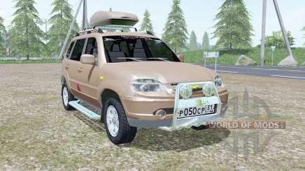 Chevrolet Niva de color gris-marrón en color para Farming Simulator 2017