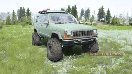 Jeep Cherokee (XJ) 1996 lifted para MudRunner
