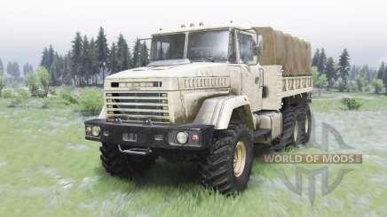 KrAZ-6322 de color beige claro para Spin Tires