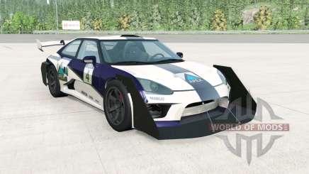 Hirochi SBR4 GT Widebody v1.1 para BeamNG Drive