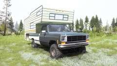 Chevrolet K10 Camper 1987 para MudRunner