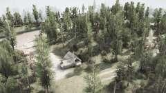 El camino y el bosque para MudRunner
