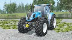 New Holland T7.240 spanish sky blue para Farming Simulator 2015
