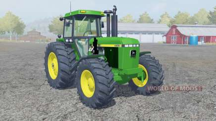 John Deere 4455 frente loadeᶉ para Farming Simulator 2013