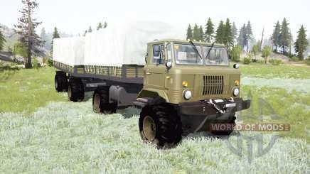 GAZ-66 bastidor articulado para MudRunner