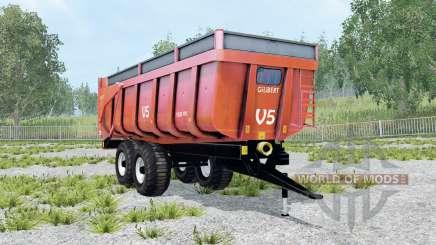 Gilibert 1800 Pro red orange para Farming Simulator 2015