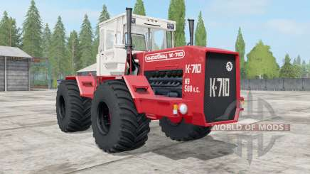 Kirovets K-710 color rojo brillante para Farming Simulator 2017