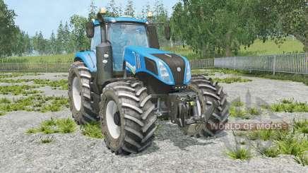 New Holland T8.320 full animation hydraulic para Farming Simulator 2015