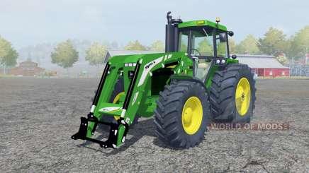 John Deere 4455 fronƫ cargador para Farming Simulator 2013