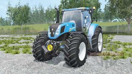 New Holland T7.240 spanish sky blue para Farming Simulator 2015