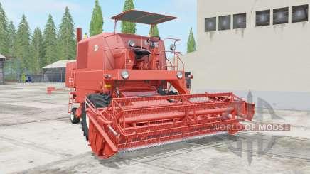 Bizon Super Z056 red orange para Farming Simulator 2017