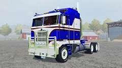 Kenworth K100 medium blue para Farming Simulator 2013