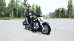 Harley-Davidson FLSTF Fat Boỿ para MudRunner
