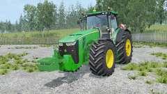 John Deere 8370R with weights para Farming Simulator 2015