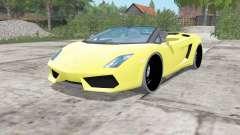 Lamborghini Gallardo LP 560-4 Spyder 2012 para Farming Simulator 2017